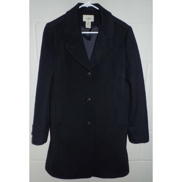 L.L. Bean Jackets & Blazers - L.L. BEAN Navy Italian Wool Thinsulate Polo Coat